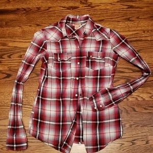 Red Plaid Mossimo Supply Western Button Down